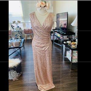 Ralph Lauren Rose Gold Sequined Gown ✨